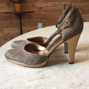 Enzo Angiolini Bronze Gold Pumps sz 9